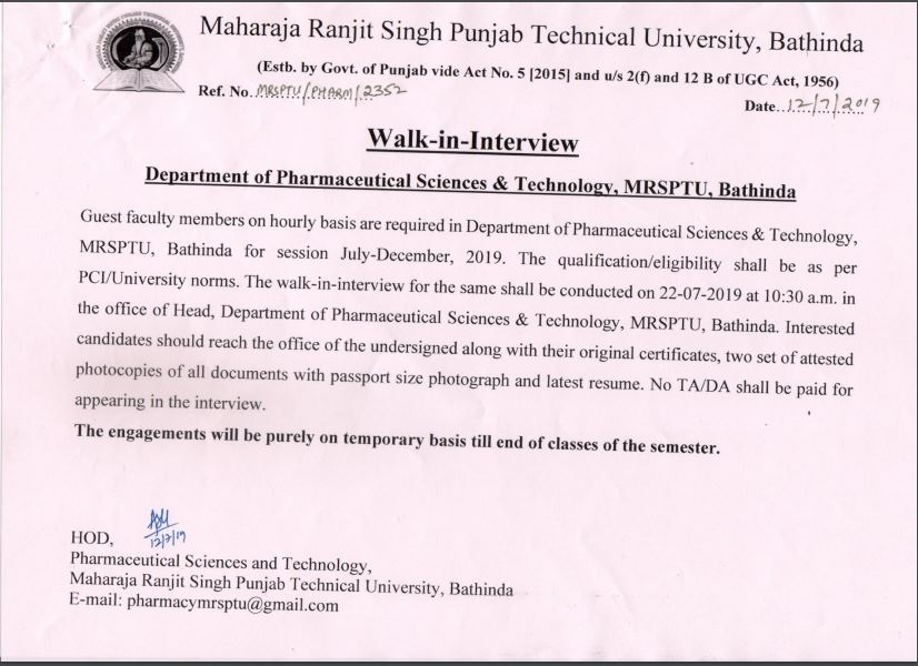 Maharaja Ranjit Singh Punjab Technical University